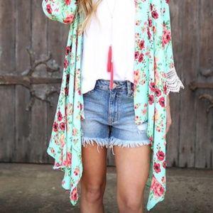 Merritt Flora Drape Kimono